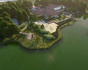 La construction est en cours à la Jeroen Pit House avec le soutien de la communauté ISE